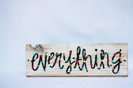 happy everything sign happy everything sign with polka dots painted by