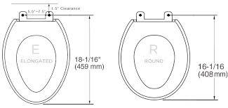 size of toilet toilet types sizes bio bidet