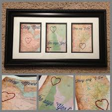 thoughtful wedding gifts story maps three 5x7 maps framed and matted with