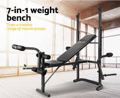 everfit multi station weight bench press curl home gym weights