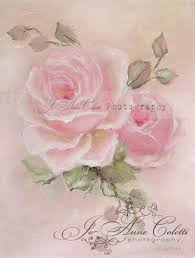 Shabby Chic Paintings by Romantic Rose Paintings By Jo Anne Coletti