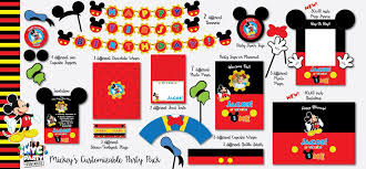 mickey mouse 1st birthday mickey mouse 1st birthday party pack printable set nyc party