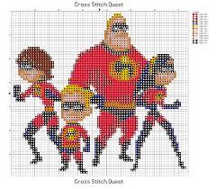free incredibles cross stitch pattern pixar u2013 cross stitch quest