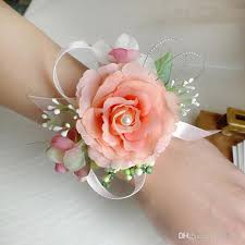 silk flowers for wedding wholesale artificial silk flowers bridal wrist flower corsage