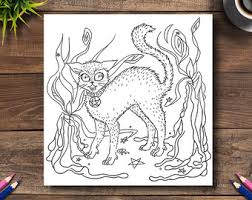 scary coloring book etsy