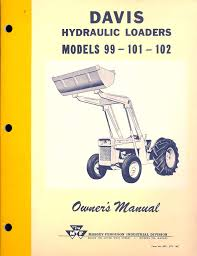 davis loader 99 101 102 owner u0027s manual