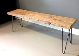 amazon com salvaged wood and hairpin legs reclaimed wood bench