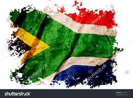 Use Flag South Africa Flag On Old Vintage Stock Illustration 95321317