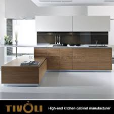 china high quality mdf wood veneer modern kitchen cabinet for