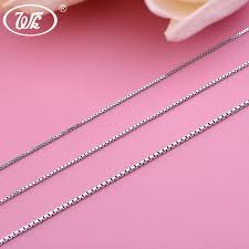 silver box necklace images Wk 16 quot 18 quot 20 quot 925 sterling silver box chain necklace for women jpg
