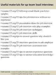 Quality Control Manager Resume Sample by Qa Team Lead Resume Contegri Com