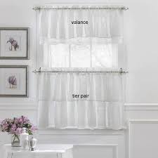 Shower Curtain And Valance Gypsy Layered Ruffled Tier Curtains And Valance