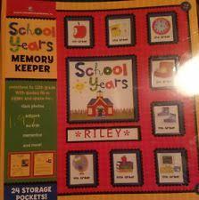 school memories album school years personalized 24 pocketful of memories book album with