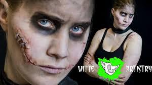 halloween scar makeup mad max fury road slit scars halloween makeup tutorial in 4k
