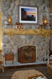 simple design chic fireplace stone refacing ideas tv over