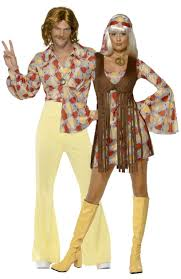 1970 Halloween Costumes Déguisements Couple Hippie Années 70 Hippie Costume Costumes