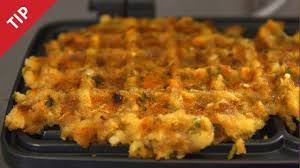 how to make a thanksgiving turkey with stuffing how to make waffles with leftover stuffing chow tip youtube