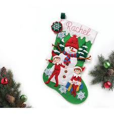 bucilla seasonal felt stocking kits the elf on the shelf