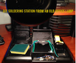diy soldering station from an old office lamp 8 steps with