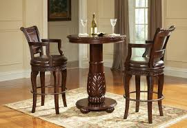 alluring round bar table and chairs with black bar table sosfund