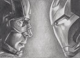 aceo cards for sale original pencil aceo sketch card captain america vs iron