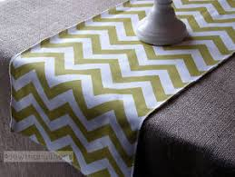zig zag table runner lime green table runner chevron zig zag stripe home decor dining