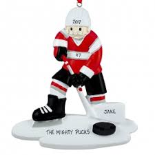 hockey player on ornament personalized ornaments for you