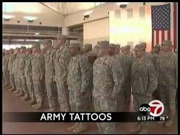 army changing tattoo policy youtube