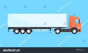 semi trailer truck colorful vector truck illustration heavy truck stock vector