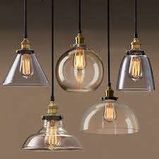 Industrial Glass Pendant Light Permo Pendant Light Chandelier Vintage Industrial Clear Glass