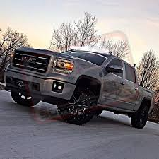 led lights for 2014 gmc sierra 50 rigid led light bar w roof mount brackets 2014 2017 silverado