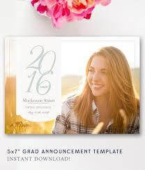 senior announcements graduation customized digital invite or photo grad announcement for