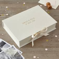 personalised wedding keepsake box by harris jones
