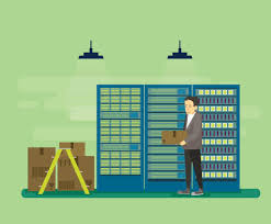 hosting server with staff illustration vector art u0026 graphics