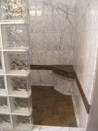 glass block designs for bathrooms excellent glass block shower divider with white marble shower also