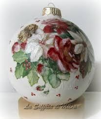 p u003epalle di natale di ceramica biscotto decorate con decoupage