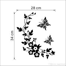 butterfly flower rattan toilet mural decor sticker wc rest