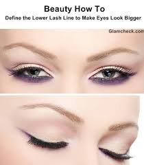 eye makeup define the lower lash line to make eyes look bigger
