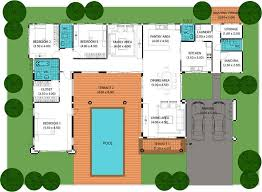 home plans with pool bold and modern 4 home plans with pool house swimming homepeek