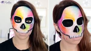 halloween makeup tutorial skeleton rainbow dripping skeleton skull halloween makeup tutorial