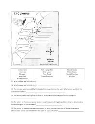 Blank 13 Colonies Map 12 Best Images Of 13 Colonies Worksheet 13 Original Colonies Map
