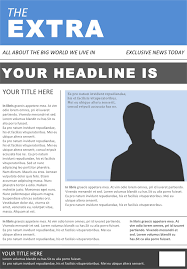 download newspaper template for free tidyform