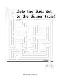 thanksgiving maze dinner png