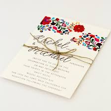 summer wedding invitations destination wedding invitations colorful mexican embroidery