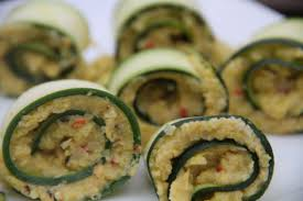 indian canapes ideas canapés courgette rolls filled with saffron and spice cauliflower