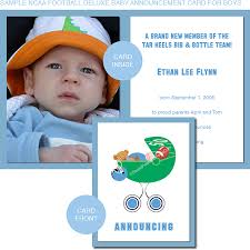 baby announcement cards of michigan baby announcement cards