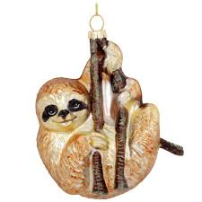 sloth on branch glass ornament bronner u0027s christmas wonderland