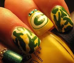green bay packer nail art tutorial youtube
