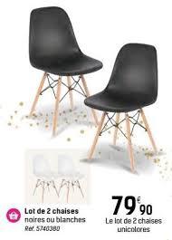 chaises carrefour carrefour promotion lot de 2 chaises produit maison carrefour