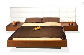 headboard with nightstand attached bed with nightstands attached